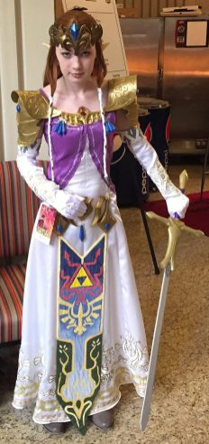 Princess Zelda was ready to kick butt and take names.