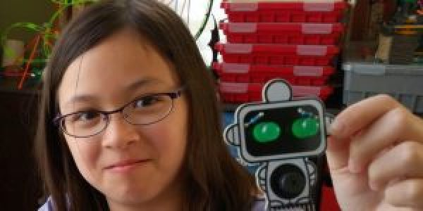 Buzz is a cute robot circuit board you build and program.