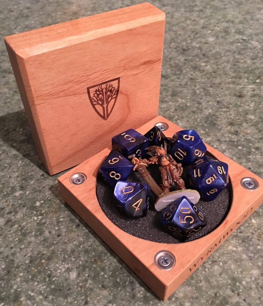 Room for dice and your favorite mini! (Photo by Anthony Karcz)