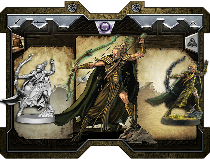 The minis will closely match the character art. Painted minis aren't included in the Kickstarter.