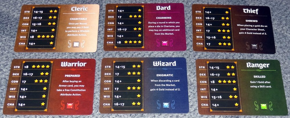 Roll Player Class cards