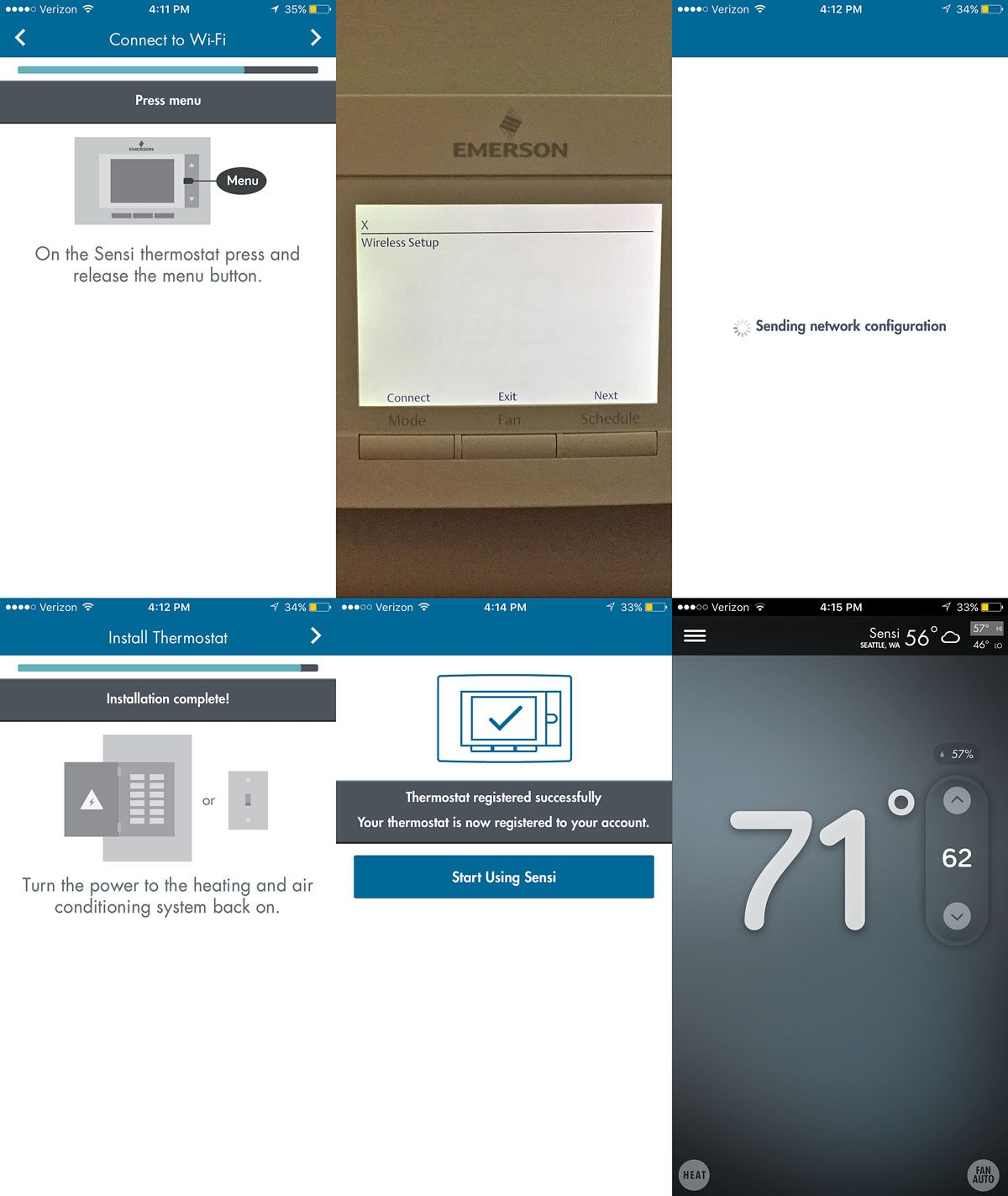 Review  Sensi Wi-fi Programmable Thermostat