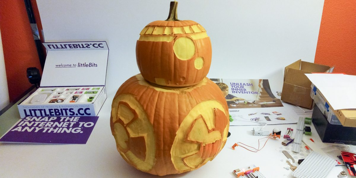Making a BB-8 Pumpkin With littleBits Gizmos and Gadgets