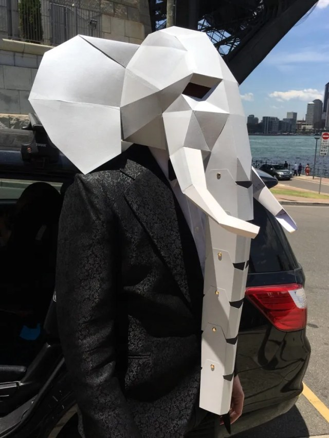 DIY Elephant Mask