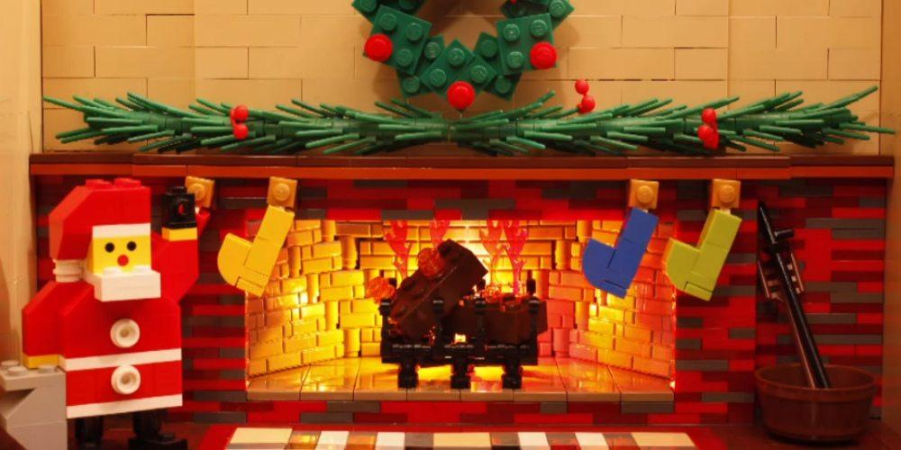 LEGO Yule Log