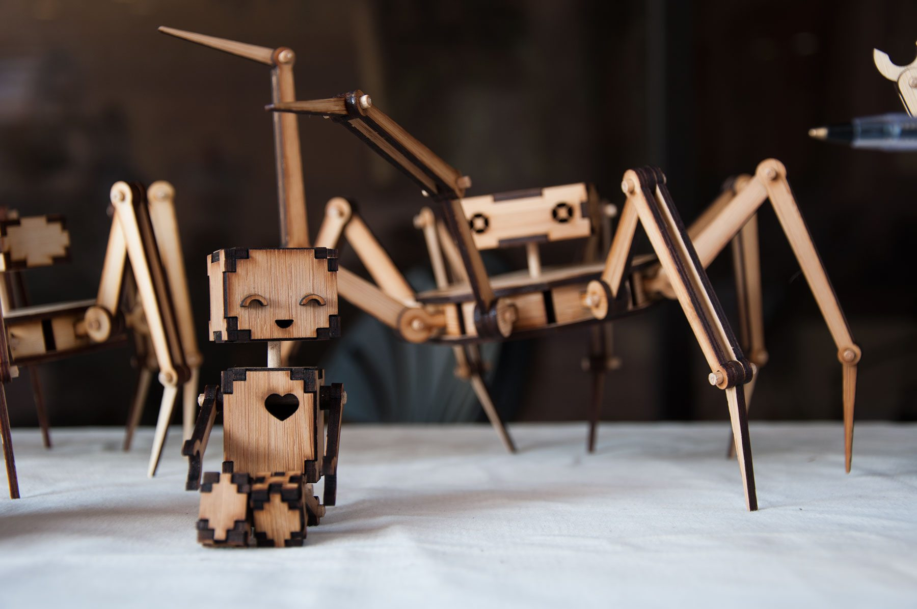 Kickstarter: RoboMustache's Unique Bamboo Robot Kits
