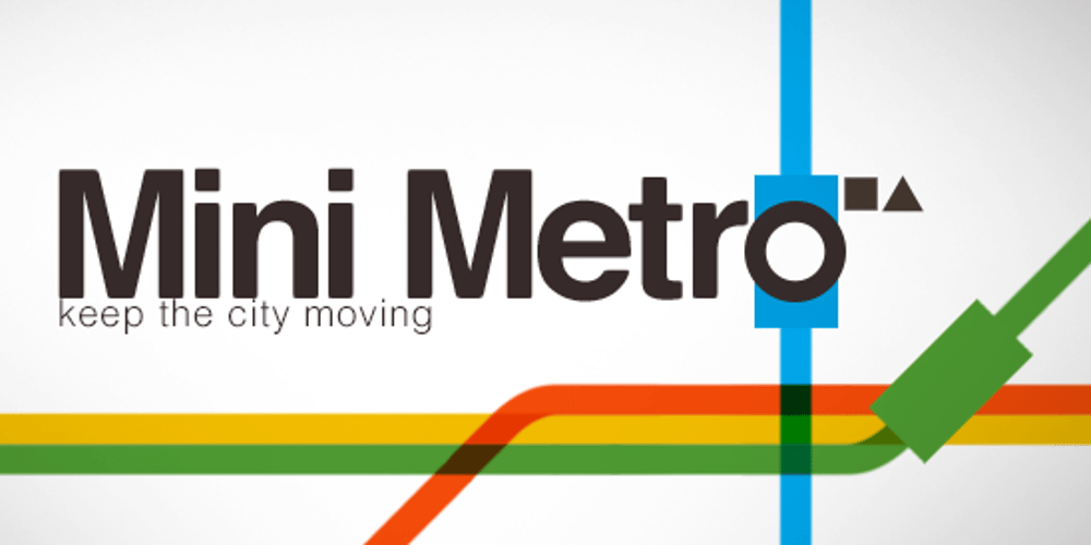 Mini Metro Logo showing a small portion of a stylized subway map.