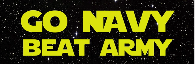 Go Navy! Beat Army! Star Wars Style