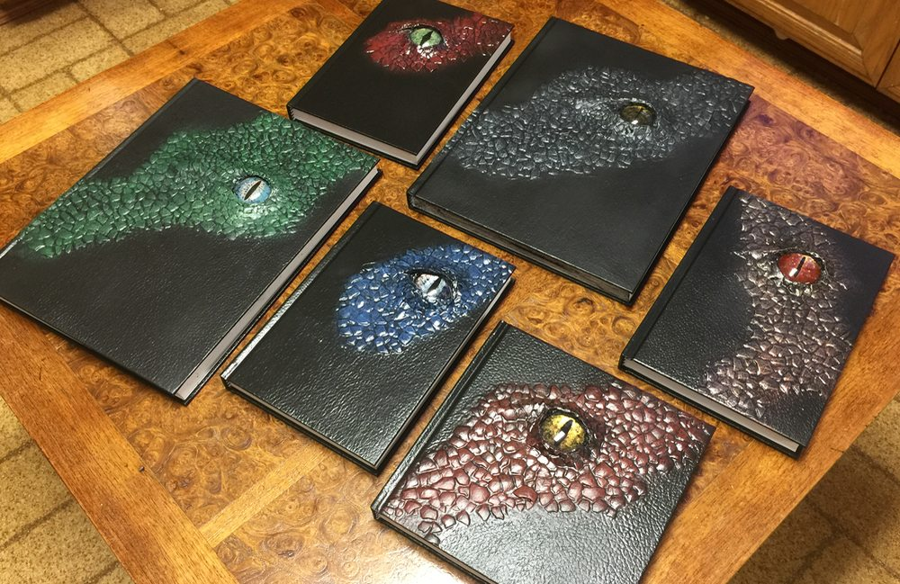 Six finished dragon skin books