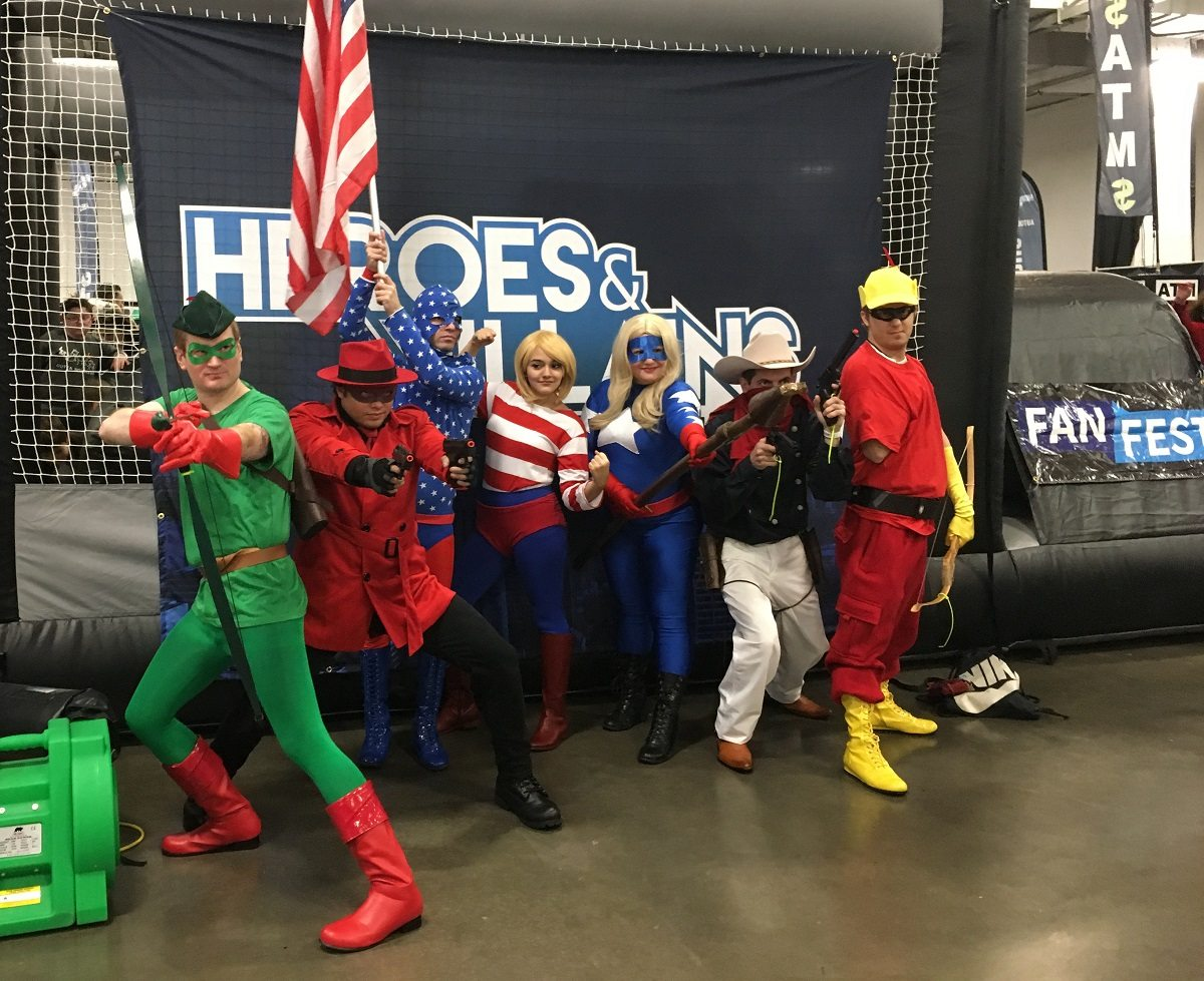 Cosplayers at the Heroes & Villains Fan Fest.