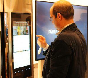 Michael Kaufman, The Architechnologist at the Family Hub Refrigerator