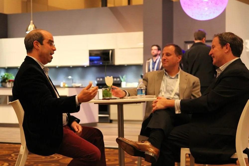 John Herrington (R), Samsung Electronics America and Michael Kaufman (L), The Architechnologist