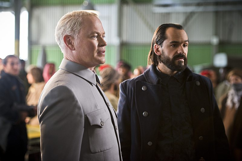 "DC's Legends of Tomorrow -- ""Pilot, Part 2"" -- Image LGN102_20150917_0279b -- Pictured (L-R): Neal McDonough as Damien Darhk and Casper Crump as Vandal Savage -- Photo: Diyah Pera/The CW -- �© 2015 The CW Network, LLC. All Rights Reserved."