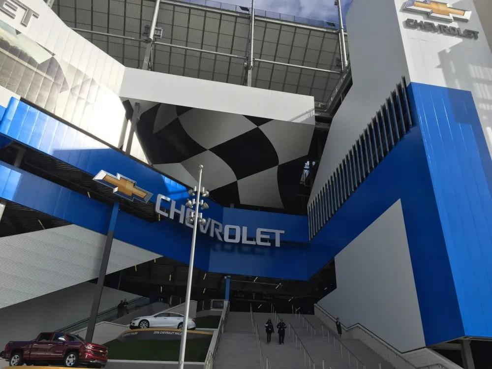 Chevrolet fan injector at the Daytona Motorsports Stadium, photo by Corrina Lawson