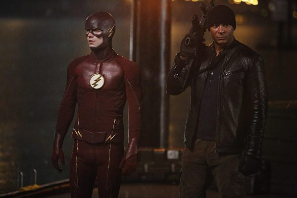 "The Flash -- ""King Shark"" -- Image FLA215b_0084 -- Pictured (L-R): Grant Gustin as Barry Allen / The Flash and David Ramsey as John Diggle -- Photo: Bettina Strauss/The CW -- �© 2016 The CW Network, LLC. All rights reserved"