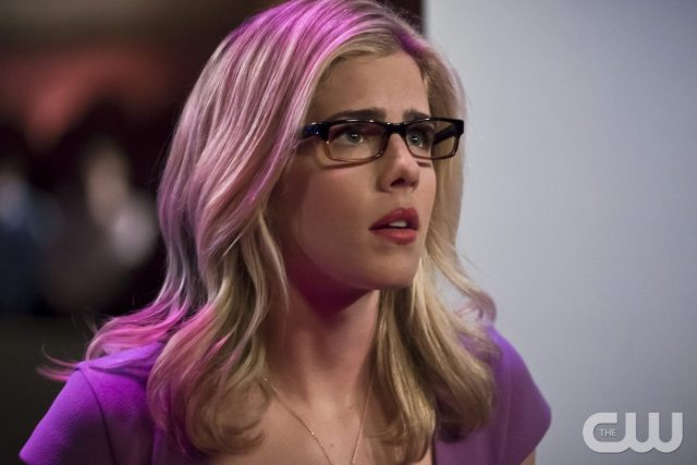 "Arrow -- ""Code of Silence"" -- Image AR414b_0075b.jpg -- Pictured: Emily Bett Rickards as Felicity Smoak -- Photo: Katie Yu/ The CW -- �© 2016 The CW Network, LLC. All Rights Reserved."