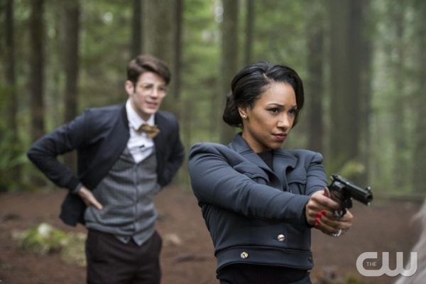 "The Flash -- ""Escape From Earth-2"" -- Image FLA214b_0126b -- Pictured (L-R): Grant Gustin as Earth 2 Barry Allen and Candice Patton as Earth 2 Iris West -- Photo: Bettina Strauss/The CW -- �© 2016 The CW Network, LLC. All rights reserved."