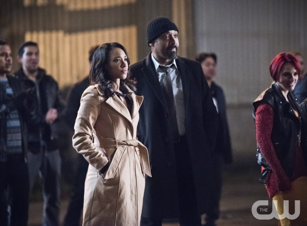 "The Flash -- ""Fast Lane"" -- Image: FLA212A_0257b.jpg -- Pictured (L-R): Candice Patton as Iris West and Jesse L. Martin as Detective Joe West -- Photo: Dean Buscher/The CW -- �© 2016 The CW Network, LLC. All rights reserved."