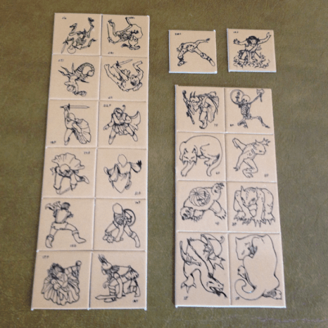 Dungeon Tiles characters