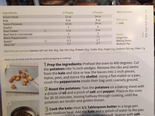 hello fresh review recipe card
