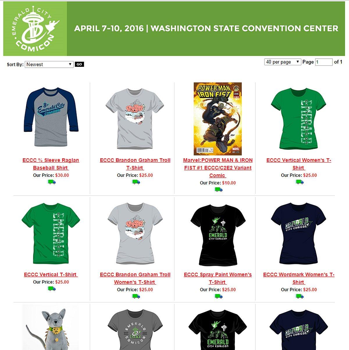 ECCC2016 - Exclusive merchandise
