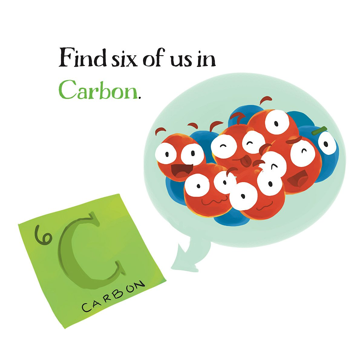 Six Protons and Neutrons in Carbon