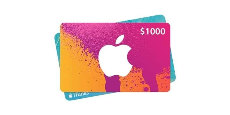$1000 iTunes Gift Card Giveaway