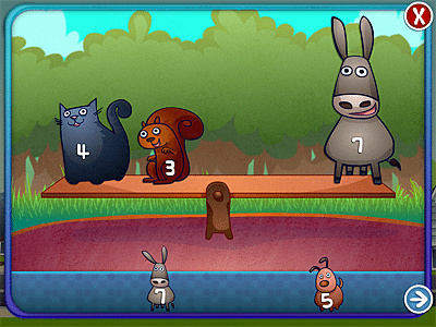 A balancing game in Drive About Number Neighbourhood, Image: Artgig Apps