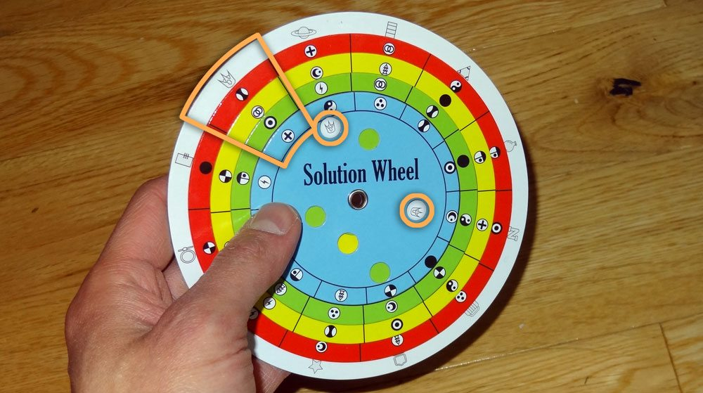Escape the Room solution wheel