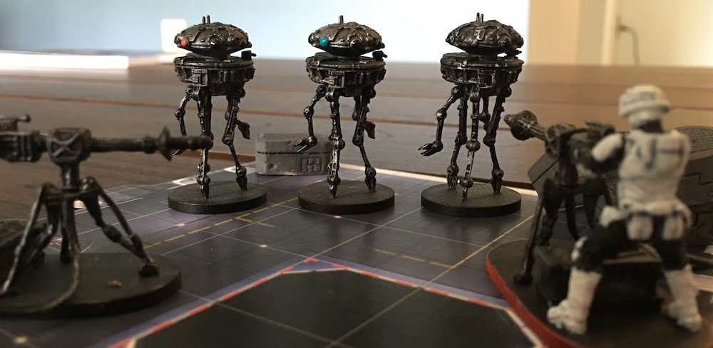 Imperial Assault Probe Droids Back