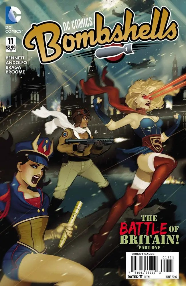 Cover to Bombshells #11, copyright DC Comics