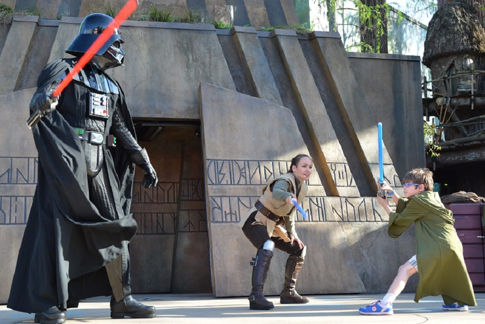 Facing up to the Dark Side. Image courtesy Disney PhotoPass.