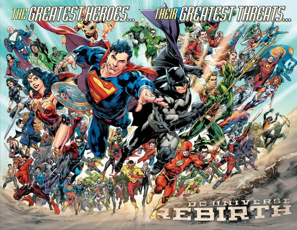 Can you name all the characters included in Rebirth? image via  DC Comics.