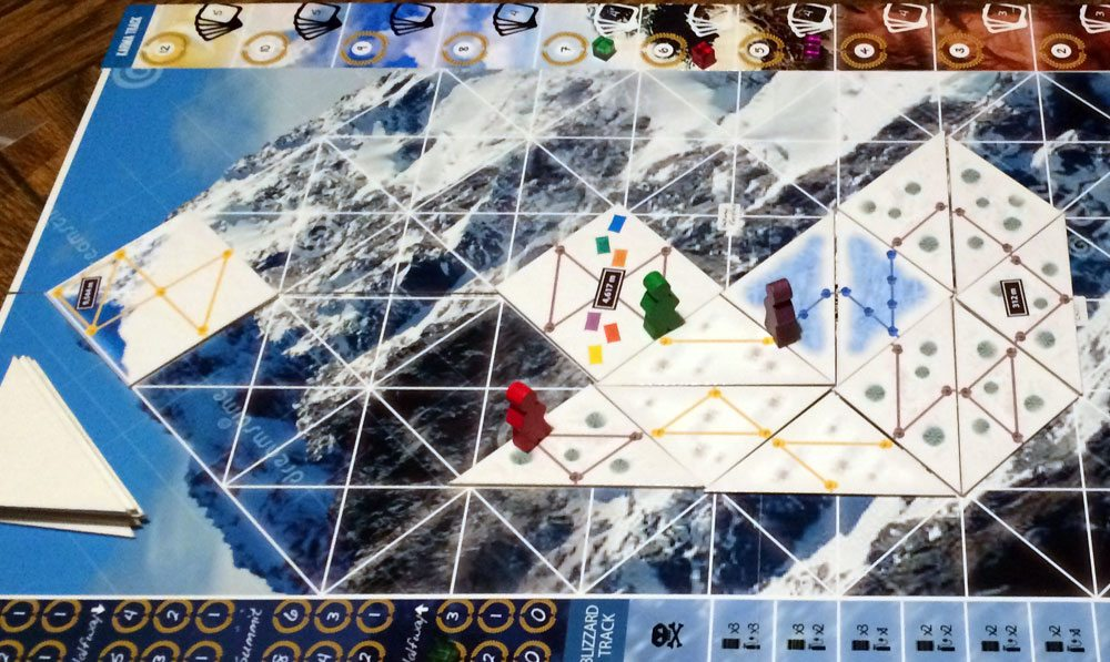 I (red player) decided to blaze my own trail to halfway camp. (Prototype shown) Photo: Jonathan H. Liu