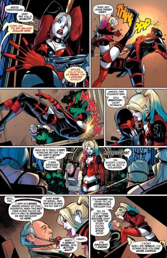 Harley Quinn #28 panel, image via DC Comics
