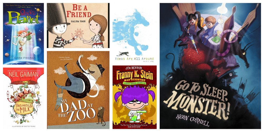 My favorite read-alouds this month. Image credit: Ariane Coffin.