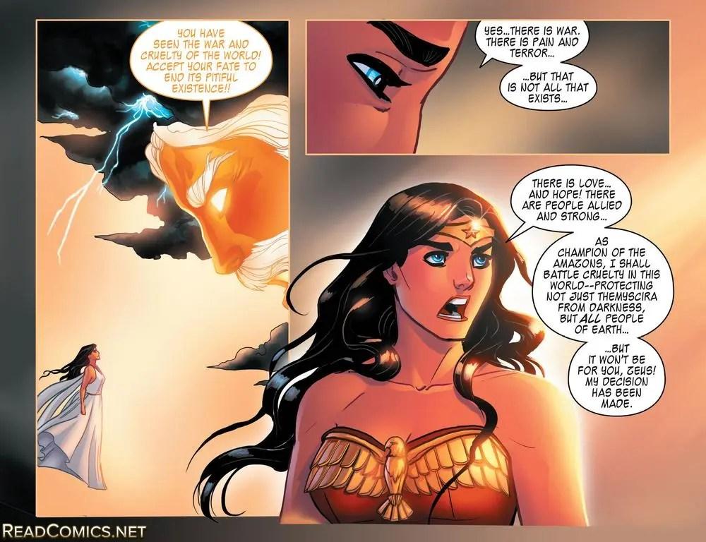 Zeus and Wonder Woman part way in Legend of Wonder Woman #7, image copyright DC Comics