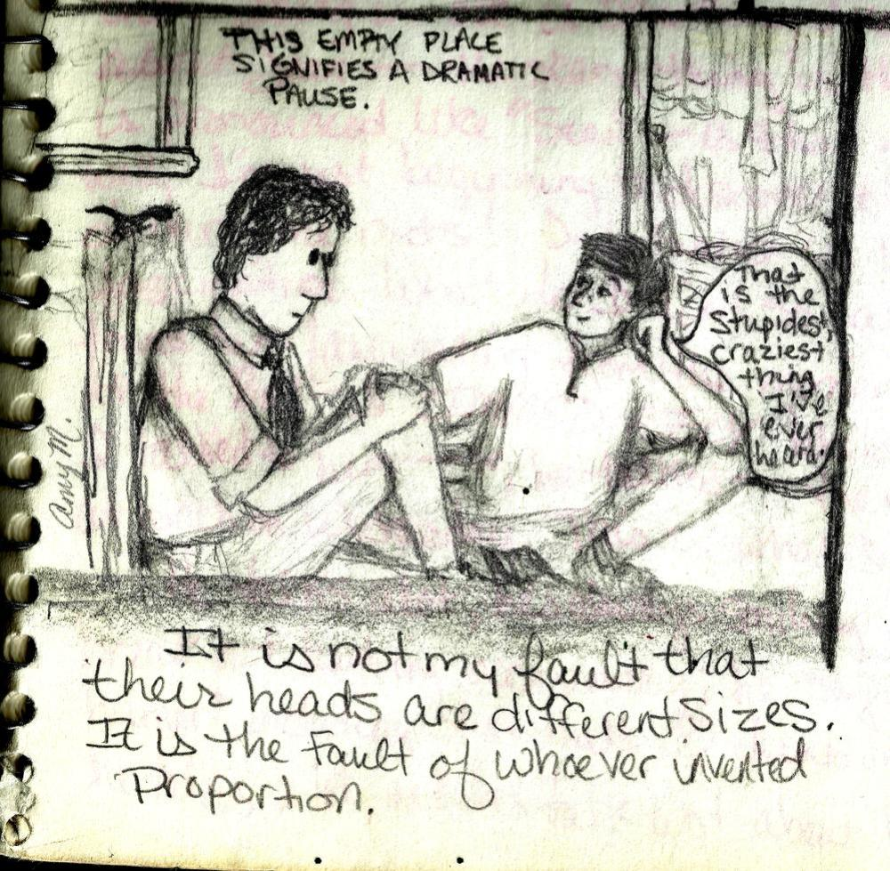 A representative panel of my brief foray into comic book creation, 1995.