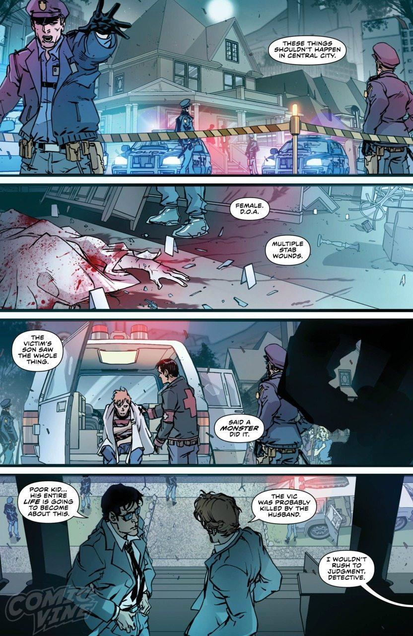 Panel from Flash Rebirth, image copyright DC Comics