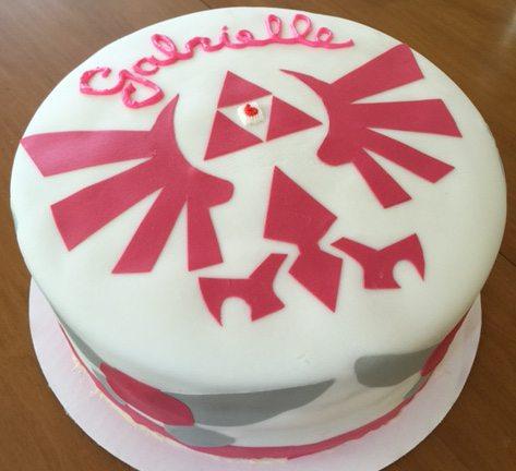 Triforce cake. Image credit: Ariane Coffin.