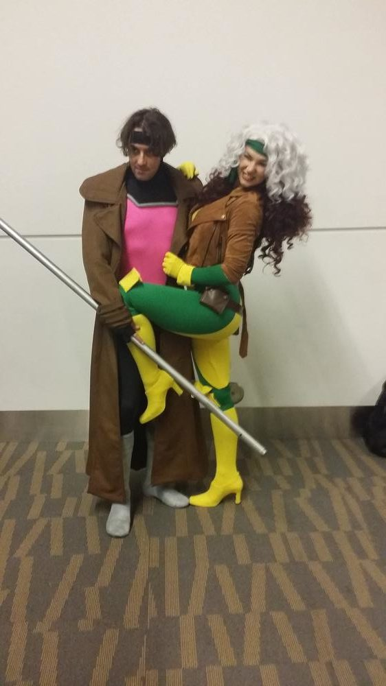 Rogue cosplay: Bridgett J. Hill. Gambit cosplay: Stephen Farruggia.