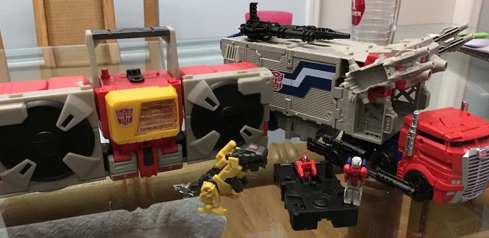 Blaster, Prime, and not Grimlock