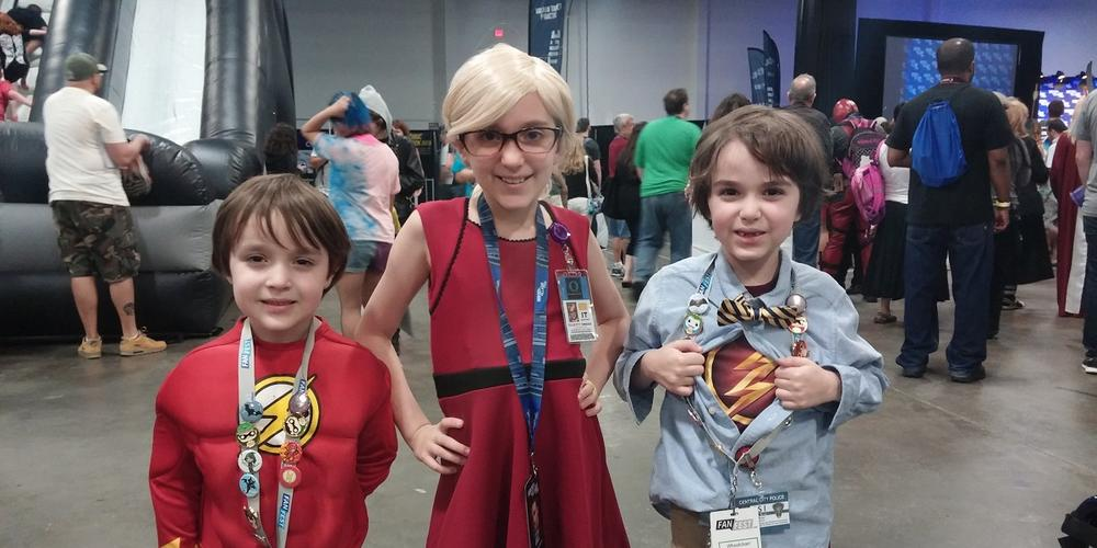 Young cosplayers at Heroes & Villains Fan Fest New York July 2016.