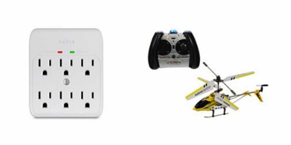 Save Big On Outlet Surge Protectors, RC Helicopters With Today's Daily Deals!
