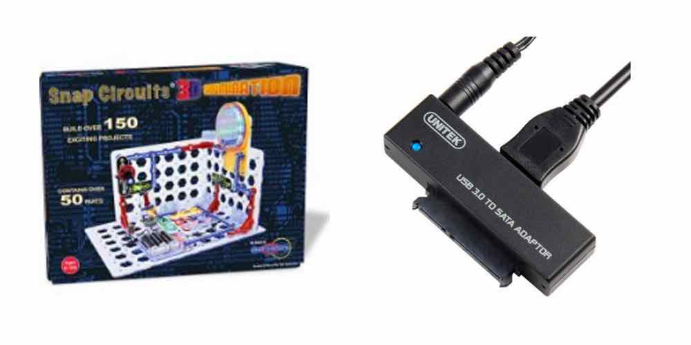 Save on Snap Circuits 3D, Hook Up Old Hard Drives With a SATA to USB 3 Adapter
