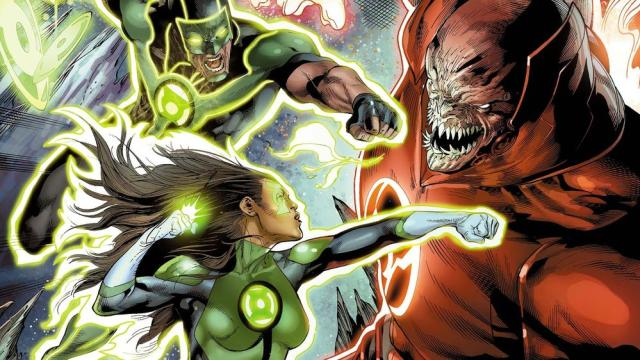 The new Lanterns aren't exactly working together. Yet. Image via DC Comics