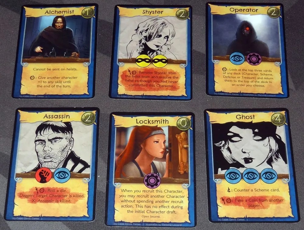 No Honor Among Thieves Character cards