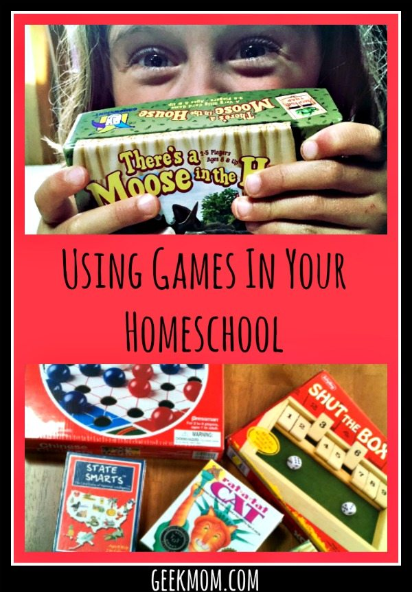 Using Games in your Homeschool Caitlin Fitzpatrick Curley, GeekMom, homeschooler, play, educational games, board games, homeschooling