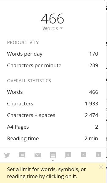 Write Word Count and Progress  Image: Dakster Sullivan