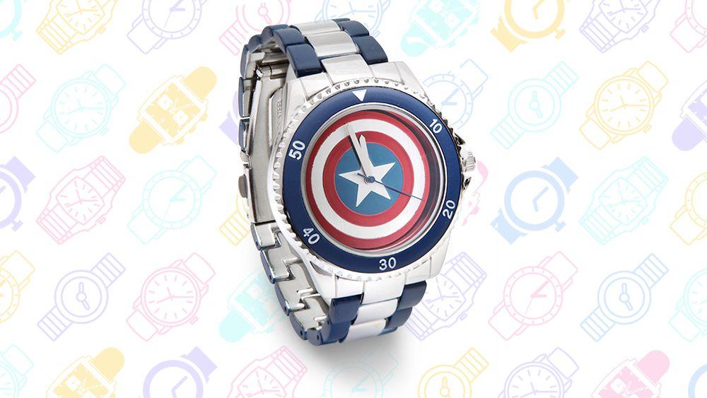 13 relojes Geeky: Capitán América Watch